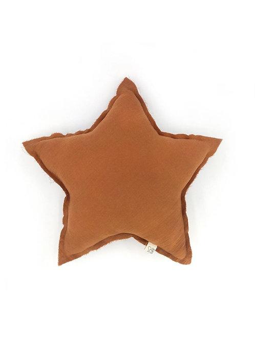 Coussin étoile caramel