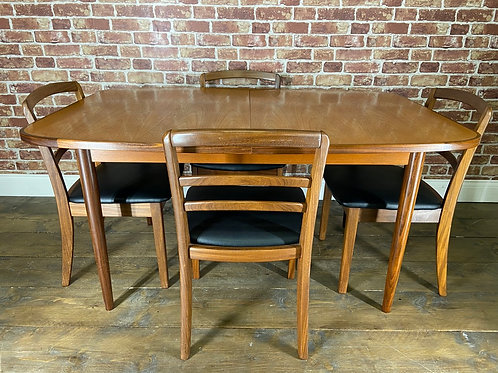 Nice G Plan 4 Chairs and Dining Table Set Vintage Retro Extending Mid Century