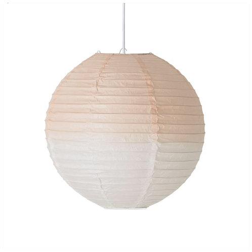 Lampion nude/blanc avec câble électrique