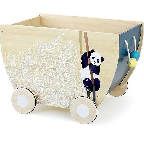 Chariot à jouets sous la canopée