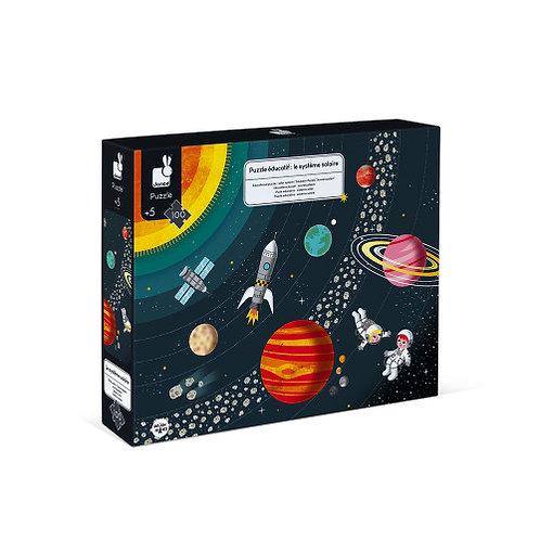 Puzzle éducatif système solaire