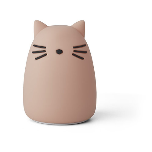 Veilleuse chat rose