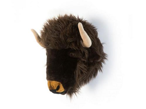 Trophée peluche bison