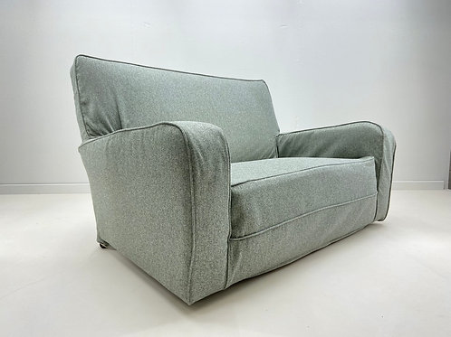 1930s Art Deco 2 Seater Sofa Reupholstered By Plumbs