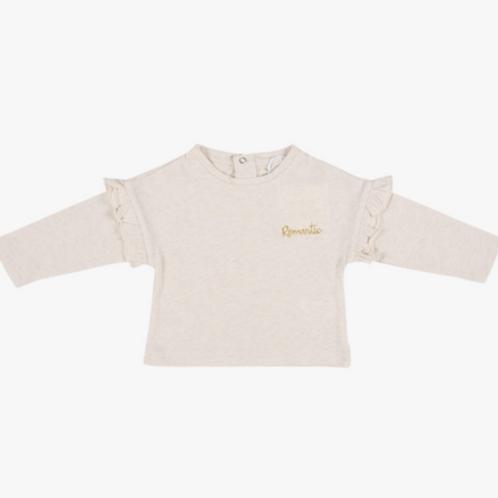 T-shirt crème Romantic