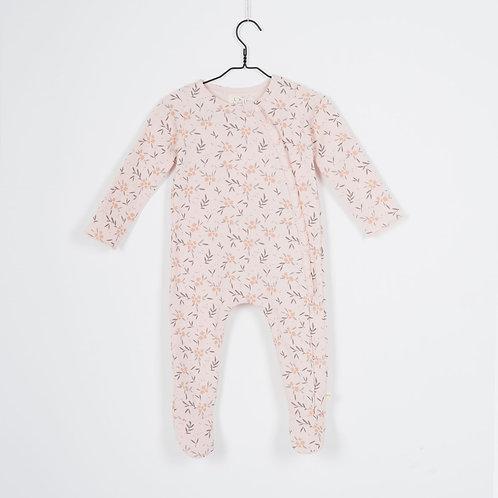 Pyjama en molleton blush Fleurs