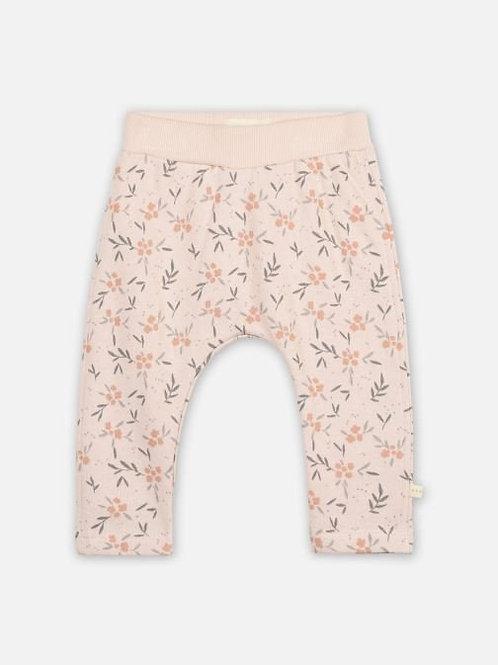 Pantalon en molleton Yogi rose poudré Fleurs