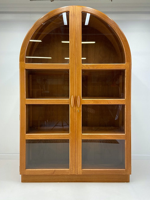 Danish Dome Topped Glass Display Cabinet