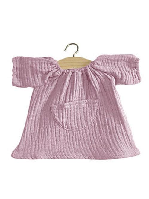 Robe Jeanne en coton double gaze lilas