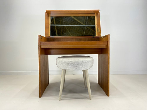 Retro STAG Teak Dressing Table With Stool