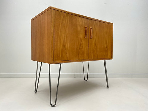 Retro G Plan Record Cabinet on Hairpin Legs