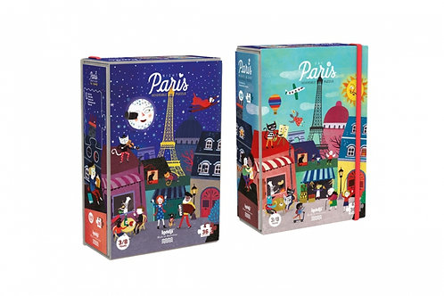 Puzzle night and day in Paris