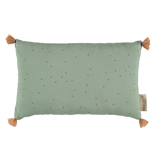 Coussin sublim toffee sweet dots eden green