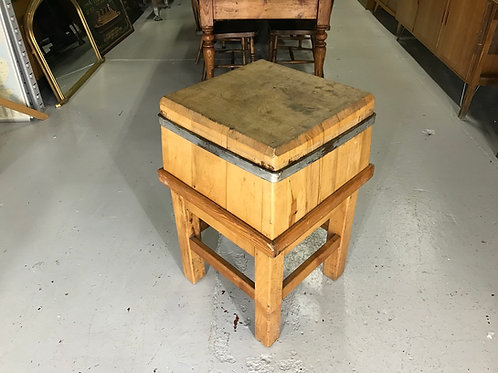 Stunning Rustic Oak / Pine Butchers Block Antique Kitchen Island Chopping Board
