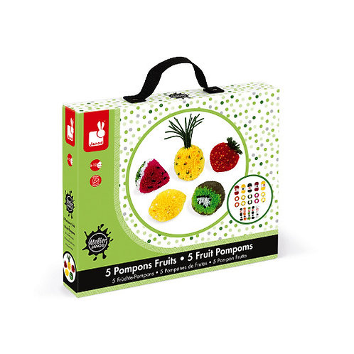 Set créatif pompons fruits