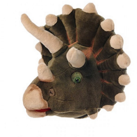 Trophée peluche dinosaure