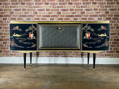 STUNNING Japanese Sideboard Cocktail Drinks Cabinet Retro Vintage Chinese Bar