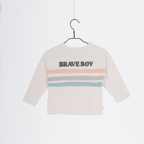 T-shirt crème Brave Boy