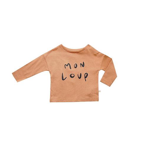 T-shirt Mon loup cannelle