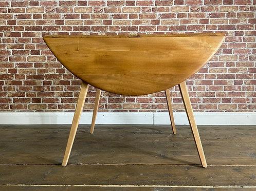 Stunning Ercol Round Drop-leaf Dining Table - Blonde Elm Kitchen Drop Leaf