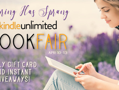 SPRING KINDLE UNLIMITED BOOK FAIR NEW GIVEAWAYS DAILY (April 10-13, 2019)