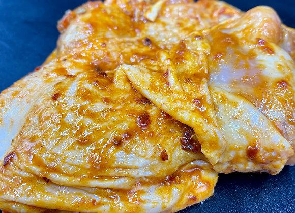 Cuisse de poulet marinée [13.90€/KG]