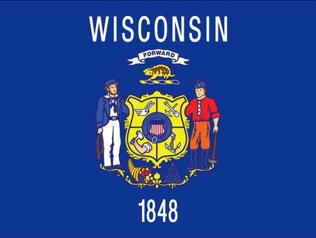 Rhode Island and Wisconsin