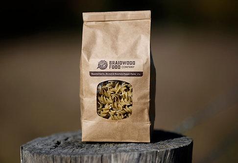 Roasted Garlic, Rocket and Australian Mountain Pepper Pasta