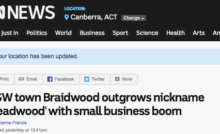 ABC News Online - Our town is booming with new ideas and creative people