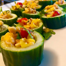 Mango Papaya Cucumber Cups
