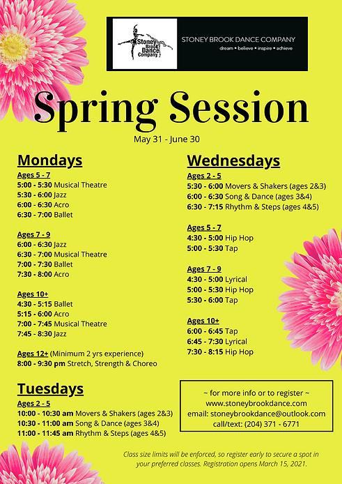 Stoney Brook Dance Company Spring Sessio