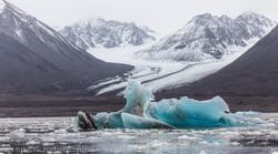 blue ice and glacier
