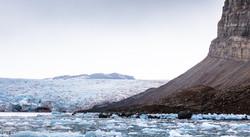 rock dome and glacier