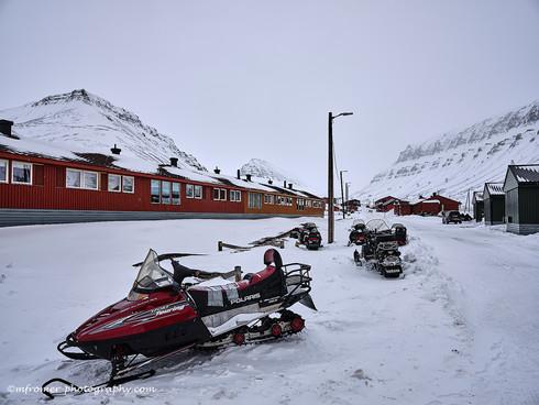 Longyearbean Svalbard April 2019