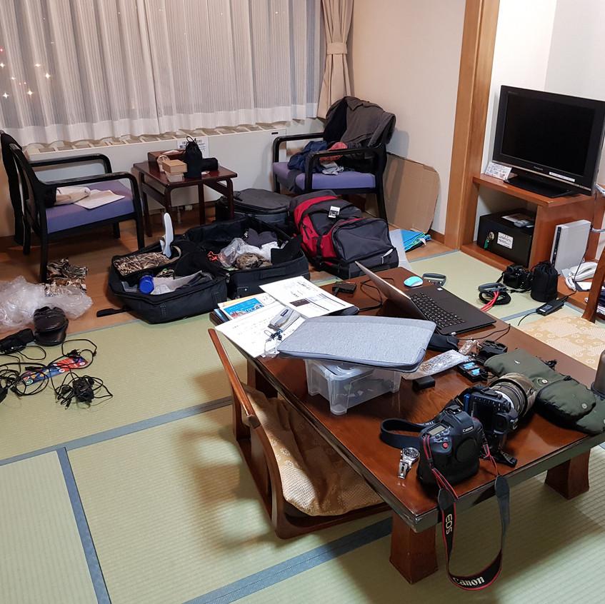 my hotel room in Jikokudani