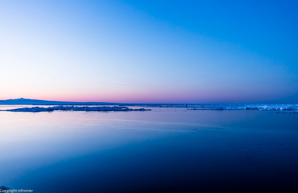 blue hour, Bay of Rausu