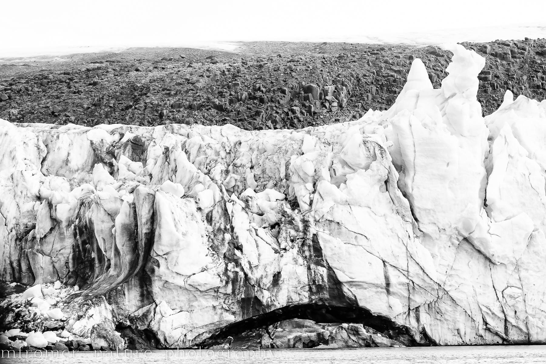 glacier B&W