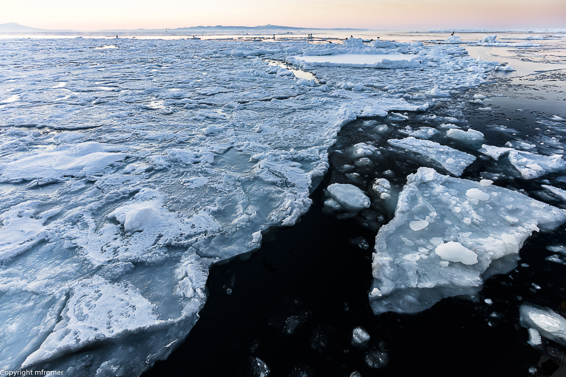 Black sea and ice