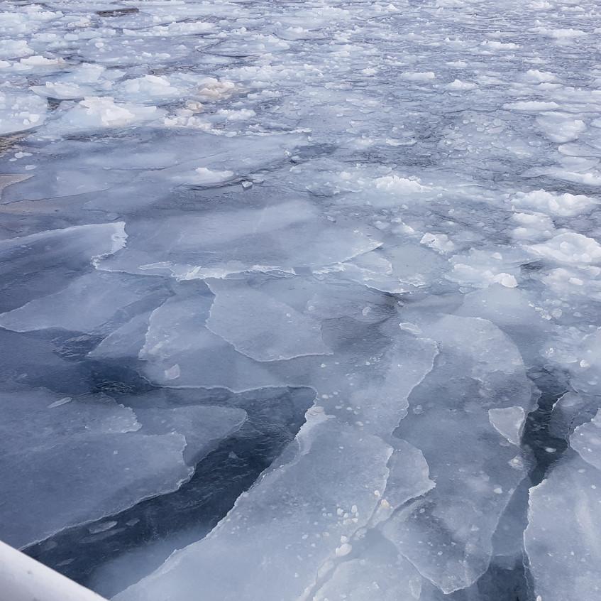 icy bay of Rausu