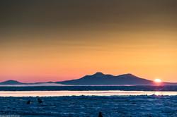 A cold sunrise in Rausu