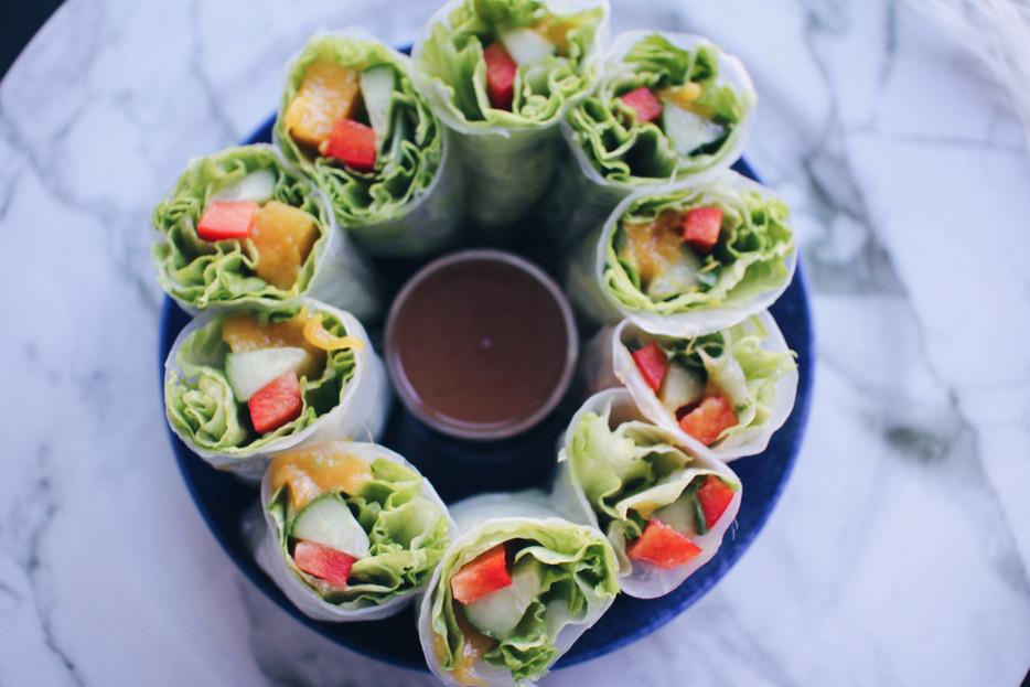 Ryžių lapų suktinukai - du 10 minučių receptai!
