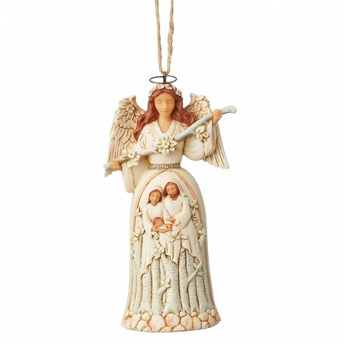 Anjo Sagrada Família Floresta Branca