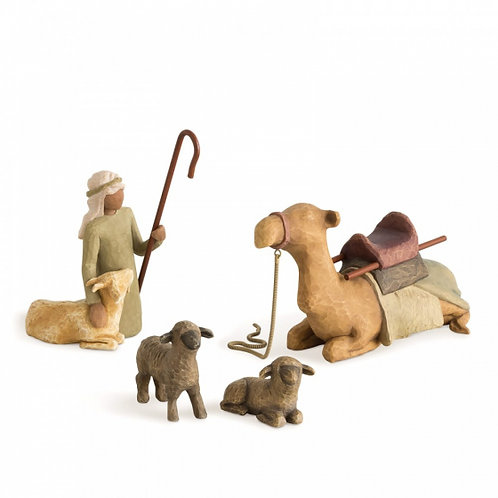 Shepherd and Stable Animals - Pastor e Animais de estábulo