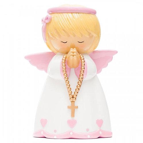 Anjo da Guarda Rosa (M-12cm)