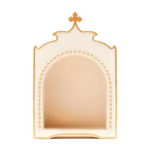 Oratório Dourado com Cruz