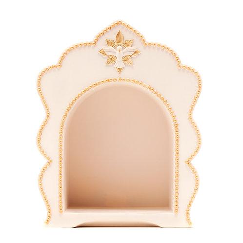 Oratório Dourado com Pombinha Espírito Santo