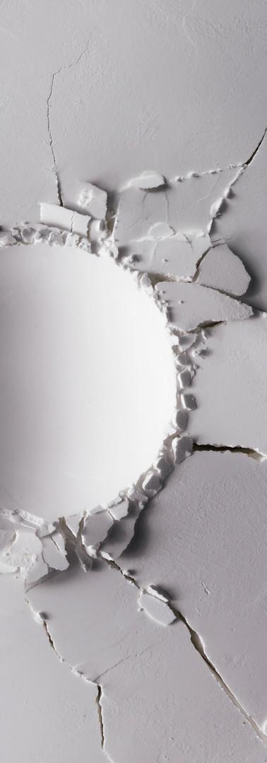 White powder texture with round impact c