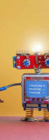 Robot automation laundry room. Robotic w