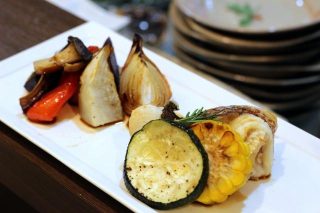 焼き野菜と鯛