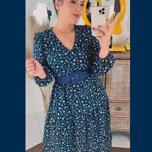 Vestido Gabi - Azul